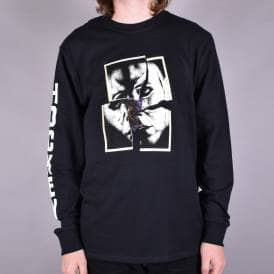 Torn Longsleeve T-Shirt - Black