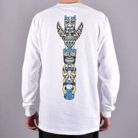 64bab5eb Totem Longsleeve T-Shirt - White/Blue