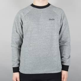 Brixton Trevor Crewneck Sweater - Heather Grey/Black