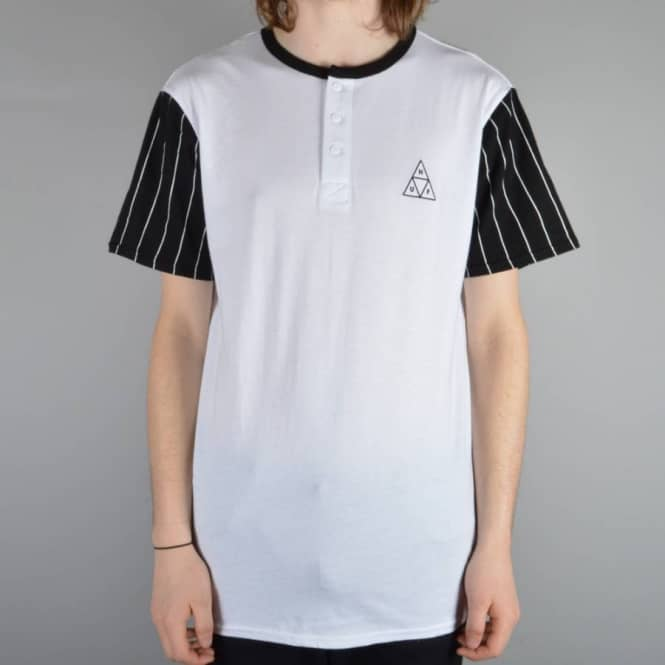moda przystojny sprzedaż hurtowa Triangle Baseball T-Shirt - White/Black