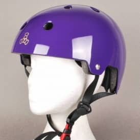 Triple 8 Brainsaver Skate Helmet - Purple Gloss