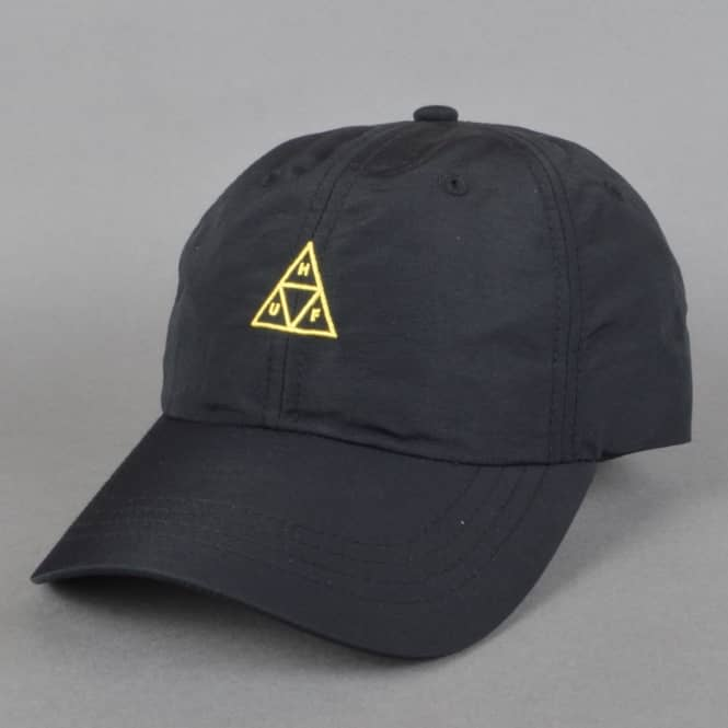 HUF Triple Triangle Curved Visor 6 Panel Cap - Black