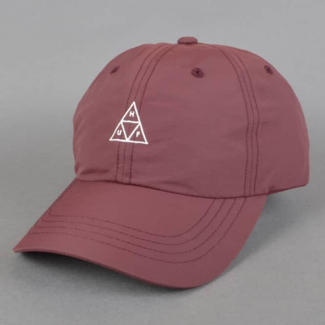 HUF Triple Triangle Curved Visor 6 Panel Cap - Nautical Red