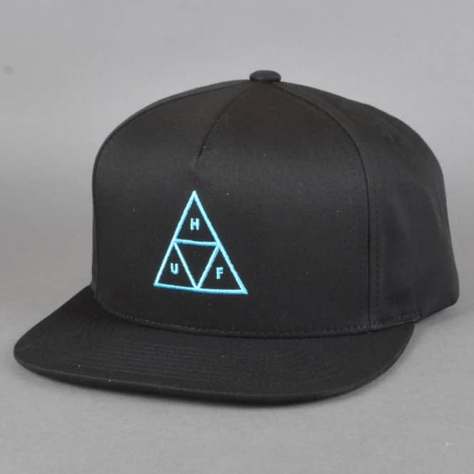 HUF Triple Triangle Snapback Cap - Black/Blue