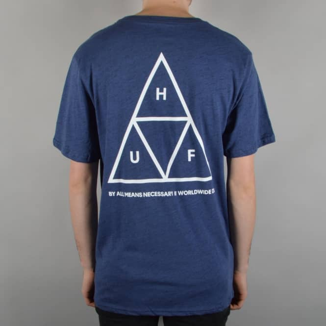 HUF Triple Triangle T-Shirt - Streaky Heather
