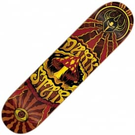 Trippy Yellow Skateboard Deck 7.75