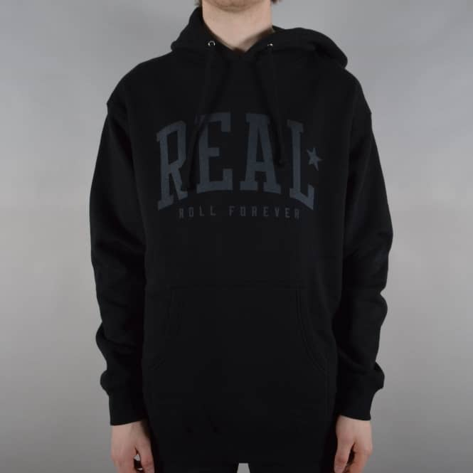 Real Skateboards Underclass Forever Pullover Hoodie - Black