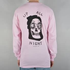 Up All Night Longsleeve T-Shirt - Pink