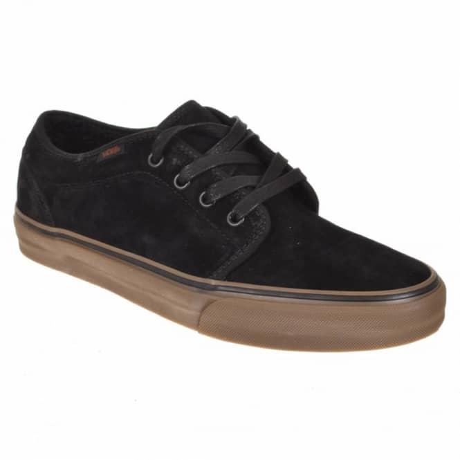 dcb0587696 Vans 106 Vulcanized (Fleece) Black Dark Gum Skate Shoes - Mens Skate ...