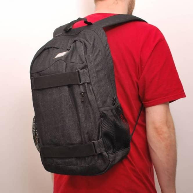 2fdc5b126a Vans Authentic Skate Backpack Black Denim - Skate Backpacks   Bags ...