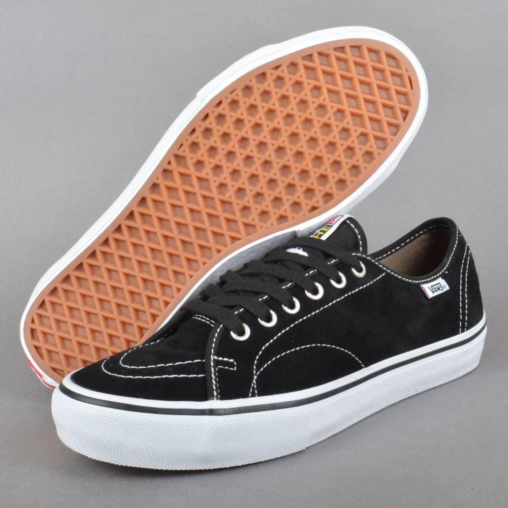 c26495cfae Vans AV Classic Pro Skate Shoes - Black White - SKATE SHOES from ...
