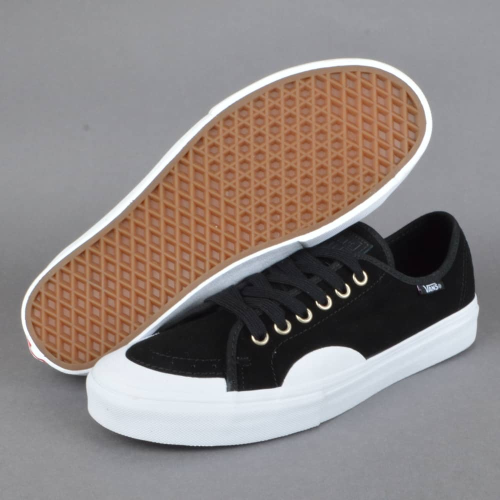 44b7ea9af2dd89 Vans AV Classic (Rubber) Skate Shoes - Black White - SKATE SHOES ...