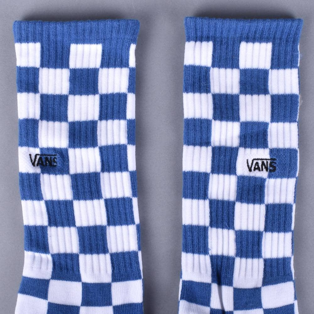 cfe4870fac1dcf Vans Checkerboard Crew II Socks - True Blue White Check ...