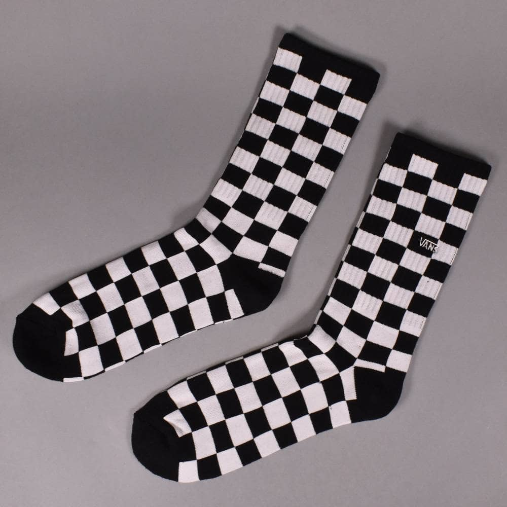 c5ebf3cad96f66 Vans Checkerboard II Crew Socks - Black White - ACCESSORIES from ...