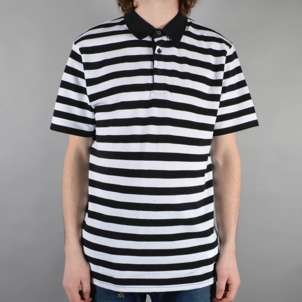 a9ba80beb4 Vans Chima Striped Polo Shirt - Black White - SKATE CLOTHING from ...