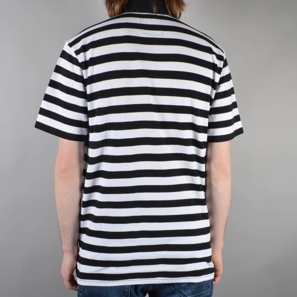 d0850236 Vans Chima Striped Polo Shirt - Black/White - SKATE CLOTHING from ...