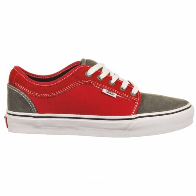 1ac9d8fafaf79b Vans Chukka Low Massimo Cavedoni Grey Red Skate Shoes - Mens Skate ...