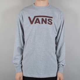 Vans Classic Long Sleeve T-Shirt - Athletic Heather/Port Royale