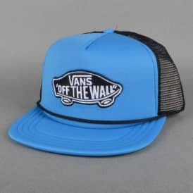 Classic Patch Mesh Trucker Cap - French Blue