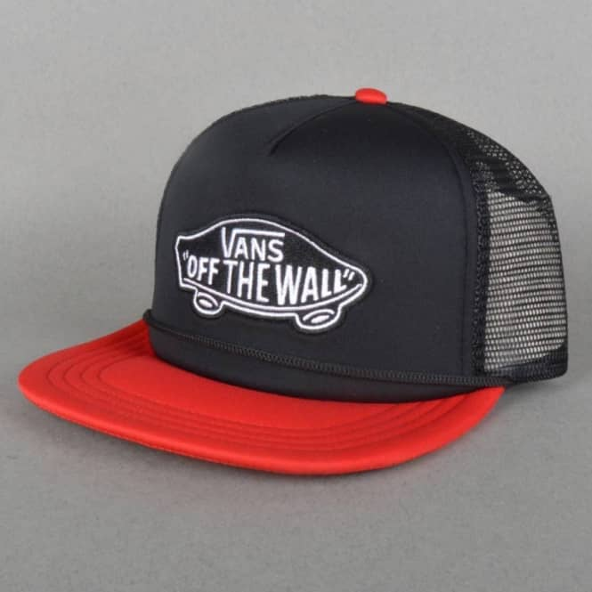 165b91a2b5f Vans Classic Patch Trucker Cap - Black Reinvent Red - SKATE CLOTHING ...