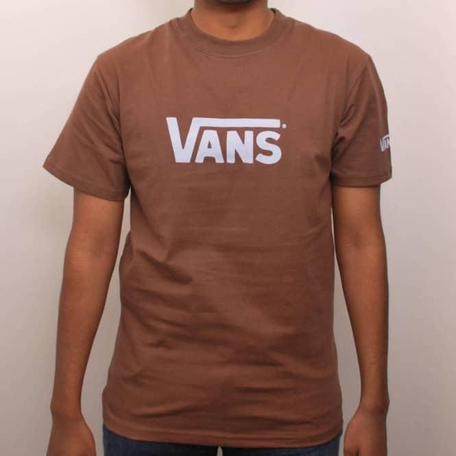 73320c4c6bc94a Vans Classic Skate T-Shirt Brown Light Blue - Skate T-Shirts from ...