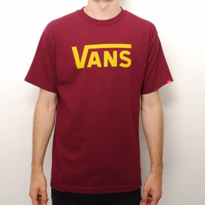 9ac24b3b18 Vans Classic Skate T-Shirt - Burgundy Gold - Skate T-Shirts from ...