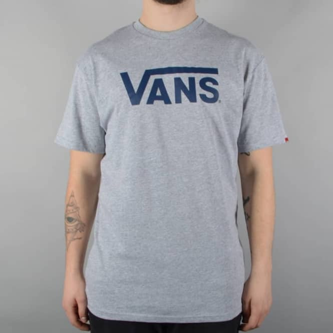 6a3ad00706c7d7 Vans Classic T-Shirt - Athletic Heather Poseidon Blue - SKATE ...