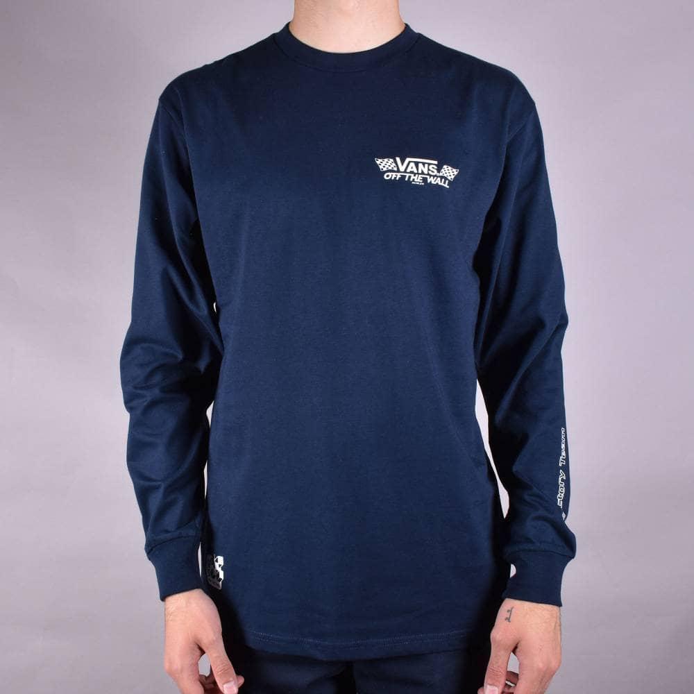 2d9f1eb9 Crossed Sticks Long Sleeve Skate T-Shirt - Navy