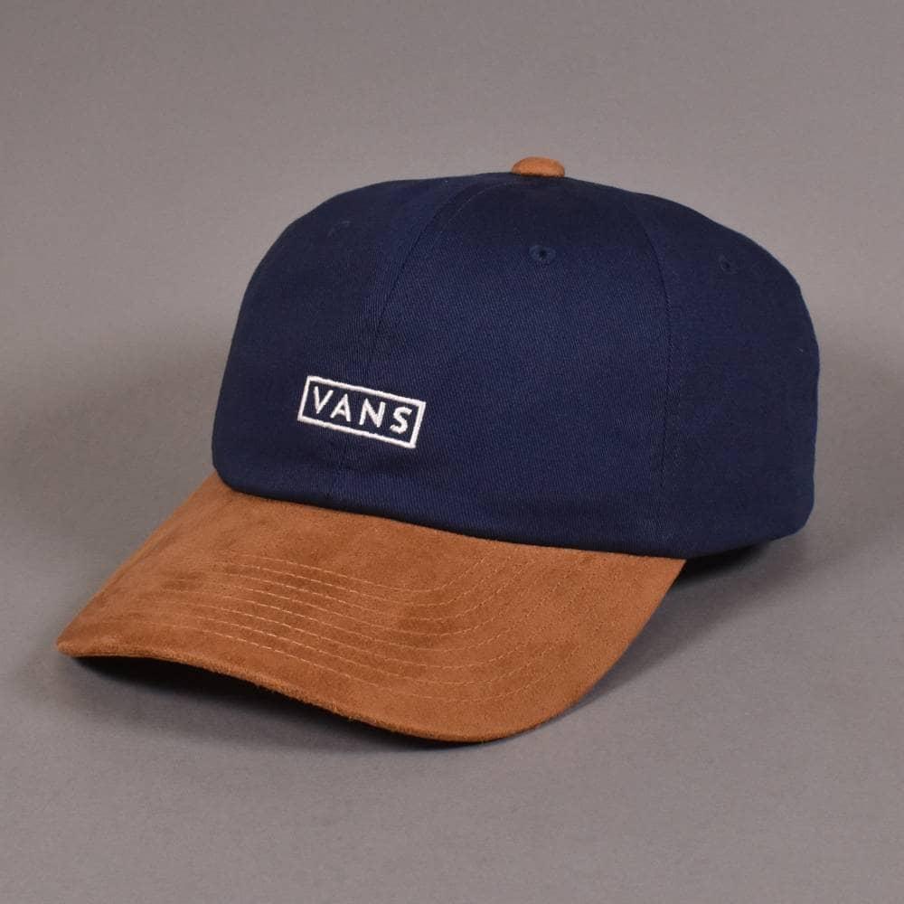 ca4fc897 Vans Curved Bill Jockey Strapback Cap - Dress Blues/Khaki - SKATE ...