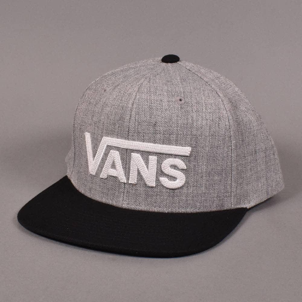 Vans Drop V II Snapback Cap - Heather Grey Black - SKATE CLOTHING ... 8421f31c7987