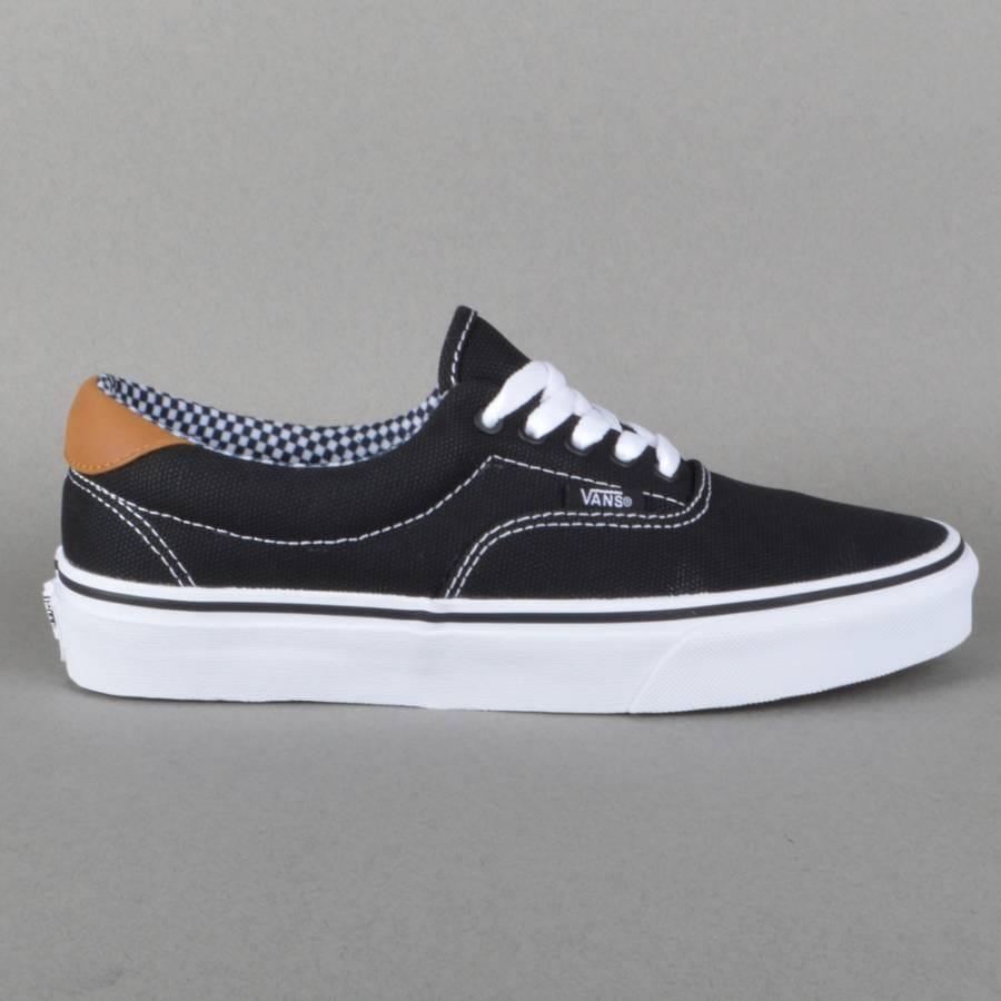 vans era 59 skate shoes black waxed canvas vans from