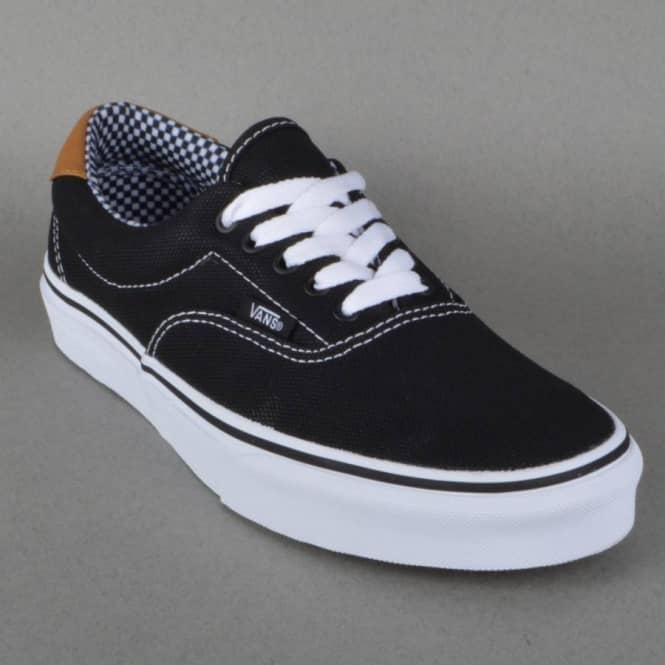 008ca0a938 Vans Era 59 Skate Shoes - Black (Waxed Canvas) - SKATE SHOES from ...