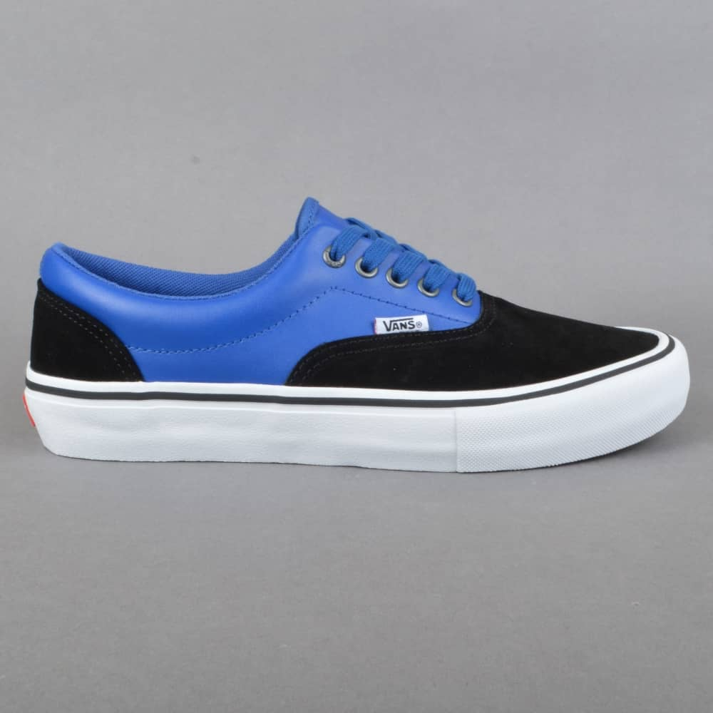 9281b72bb0 Vans Era Pro (Real Skateboards) Skate Shoe - Black True Blue - SKATE ...