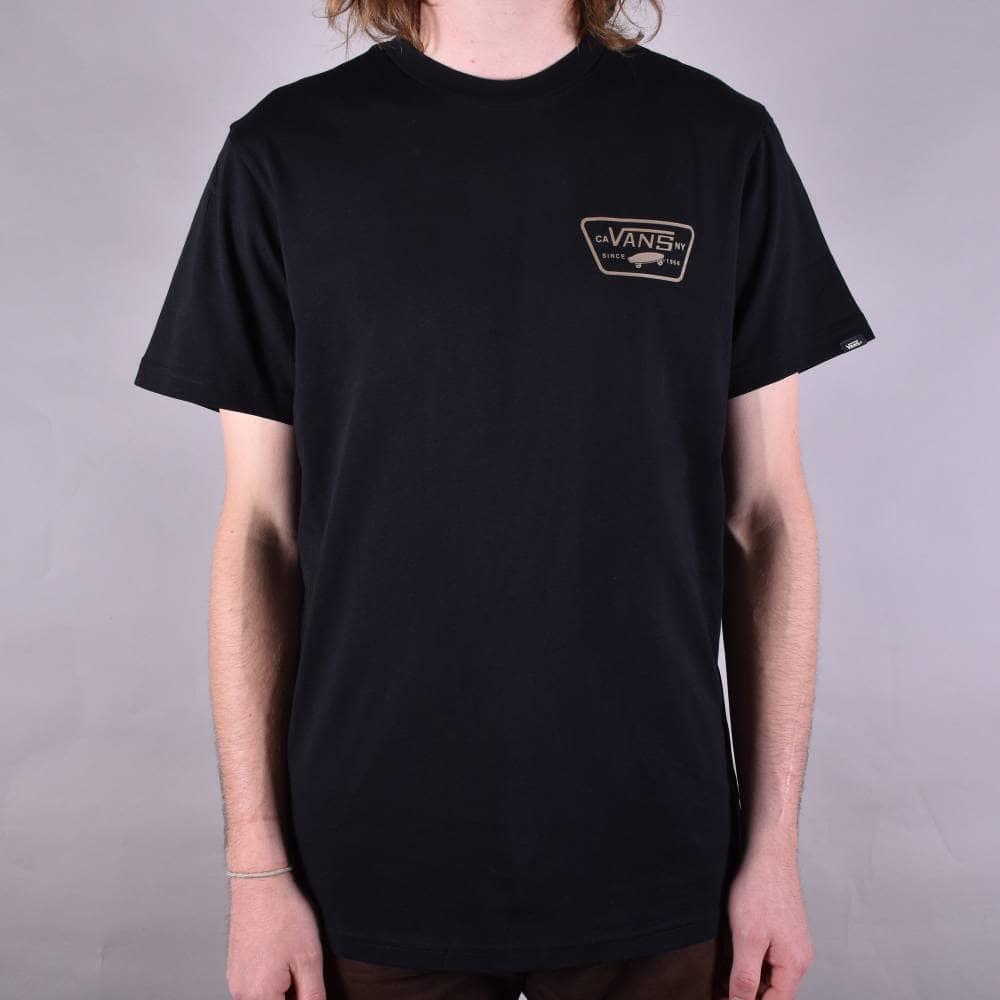 fce8f41f31 Vans Full Patch Back Skate T-Shirt - Black Dirt - SKATE CLOTHING ...