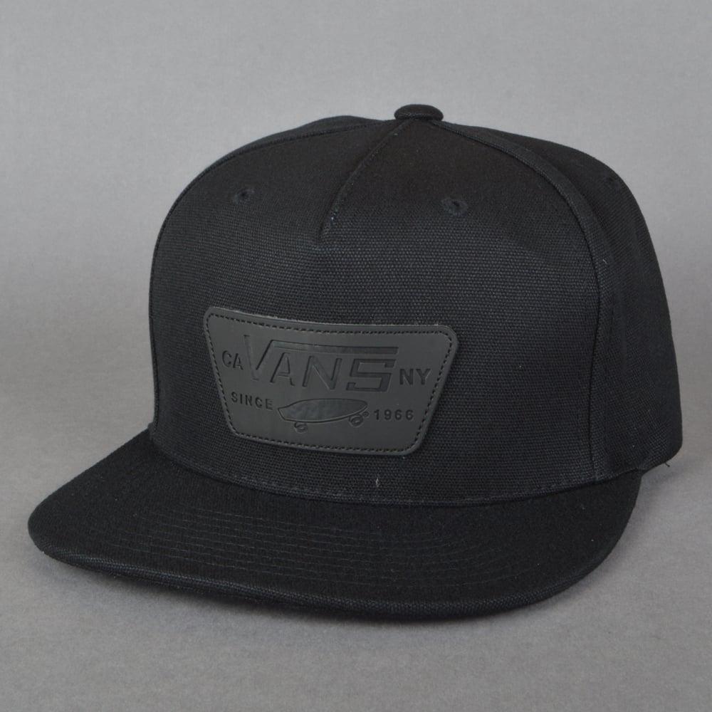 96834181 Vans Full Patch Snapback Cap - Black/Black - SKATE CLOTHING from ...