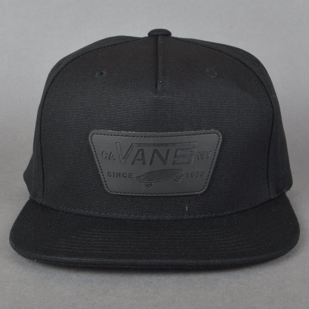 Vans Full Patch Snapback Cap - Black Black - SKATE CLOTHING from ... 5fbae271e92