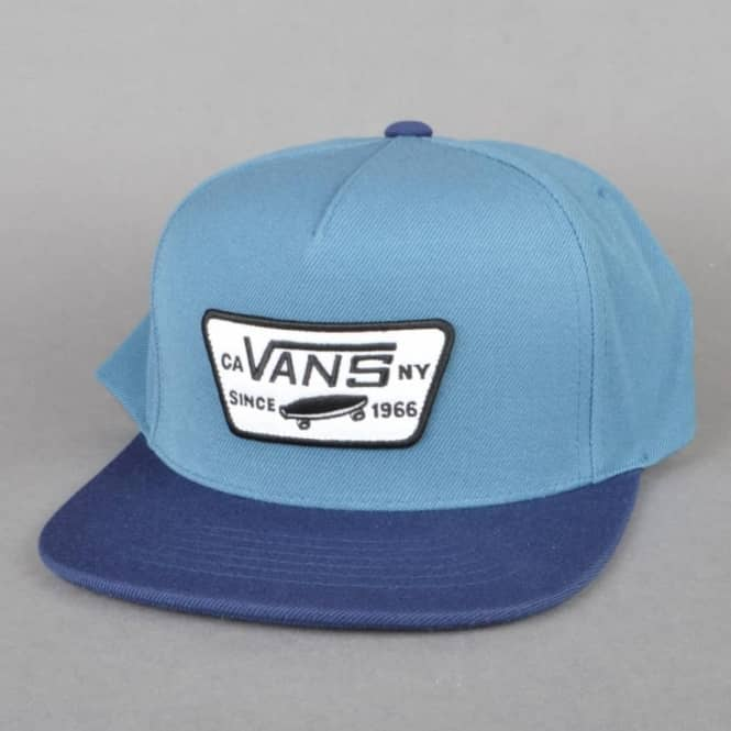 Vans Full Patch Snapback Cap - Blue Ash Dress Blue - SKATE CLOTHING ... 8e89b3500e4