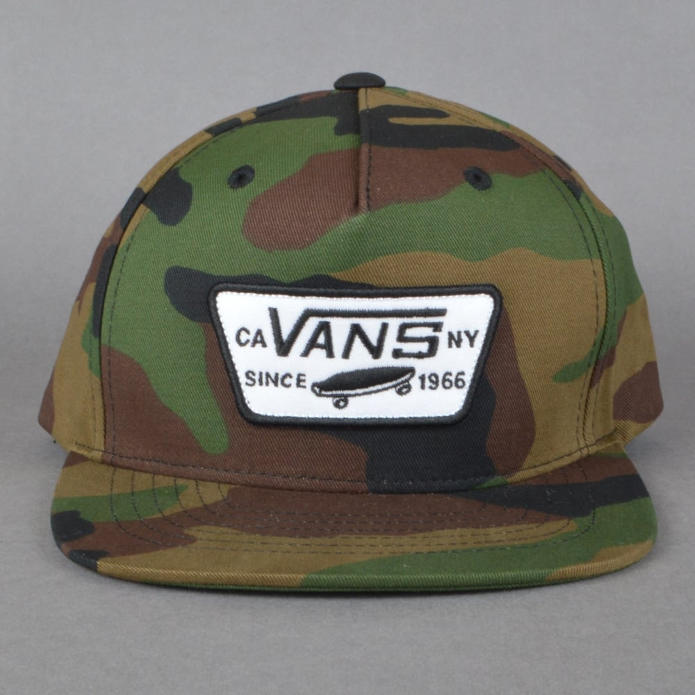 03b1ad0fff5 Vans Full Patch Snapback Cap - Classic Camo - SKATE CLOTHING from ...