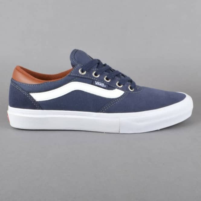 Vans Gilbert Crockett Pro Skate Shoes - Navy/White/Leather