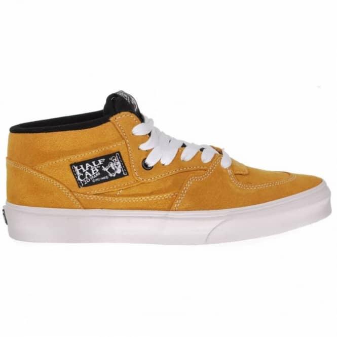 c603a4f9d2 Vans Half Cab 20th Anniversary Butterscotch Skate Shoes - Mens Skate ...