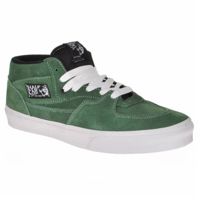 6c86aa1a51 Vans Half Cab 20th Anniversary Forest Green Skate Shoes - Mens Skate ...
