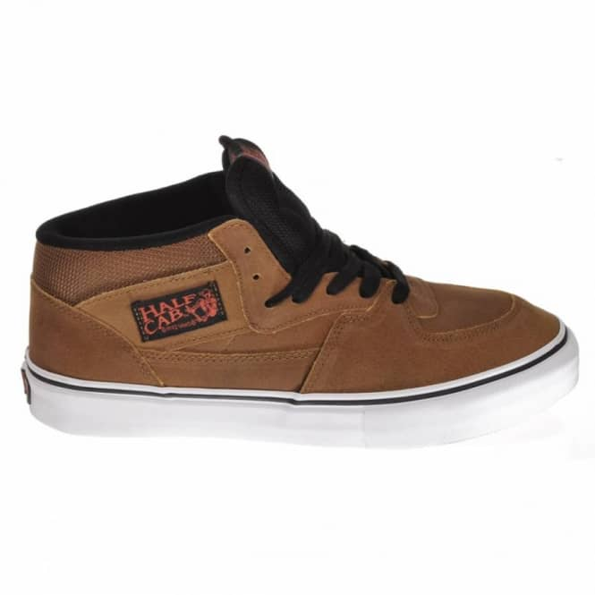 90934e23cd Vans Half Cab Pro Matte Tan Supertuff Suede Skate Shoes - Mens Skate ...