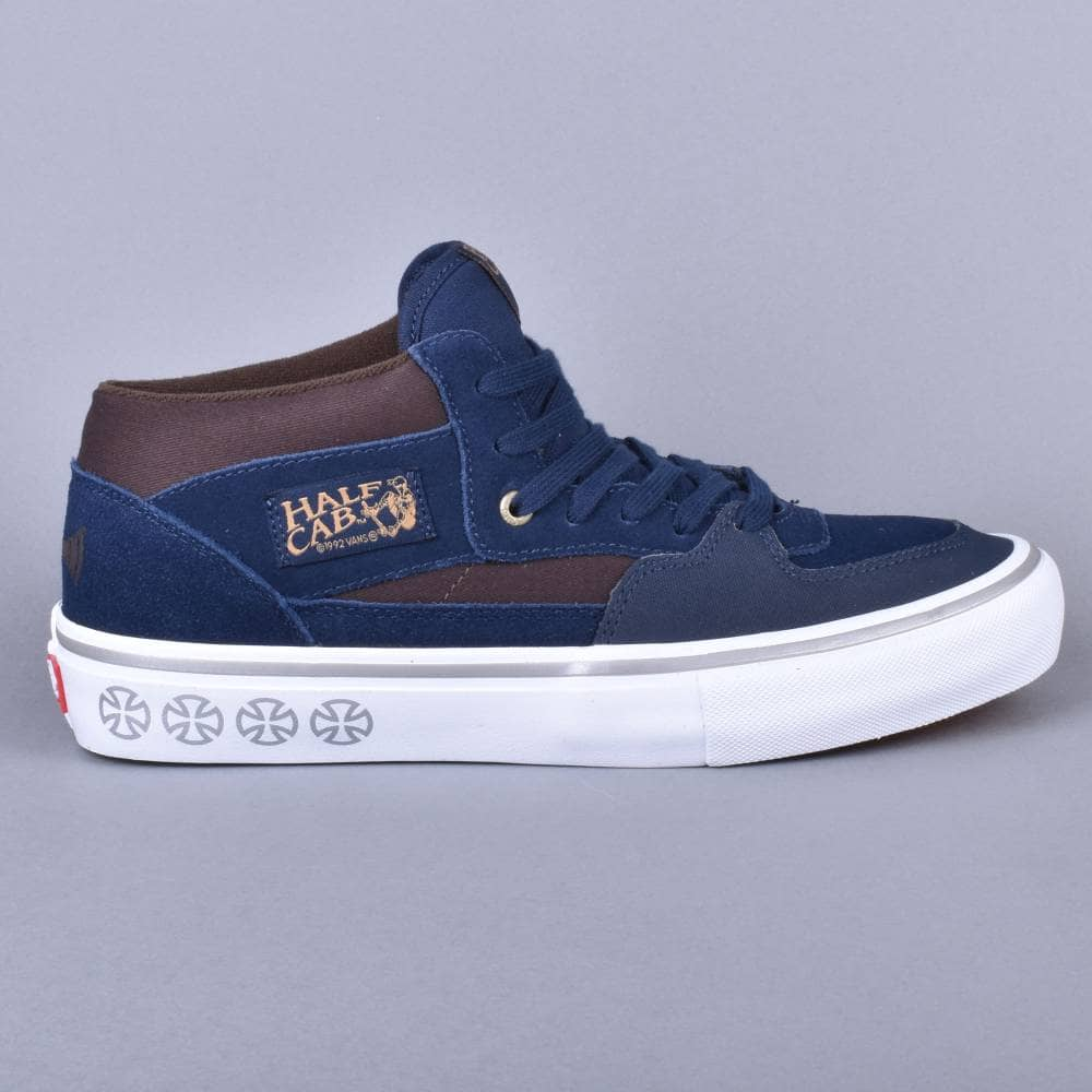 3310b4d9475363 Vans Half Cab Pro Skate Shoes - (Independent) Dress Blues - SKATE ...