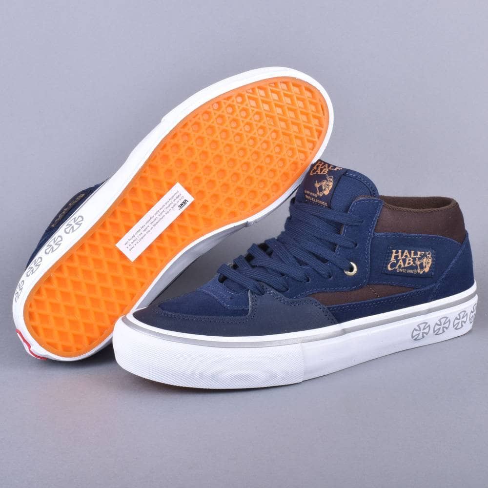 42881b403c520d Vans Half Cab Pro Skate Shoes - (Independent) Dress Blues - SKATE ...
