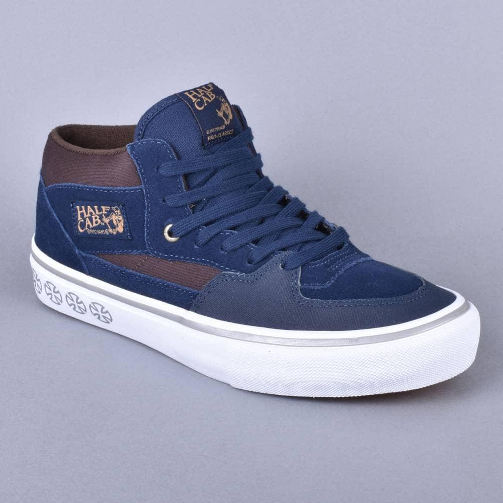 3781c42b19 Vans Half Cab Pro Skate Shoes - (Independent) Dress Blues - SKATE ...