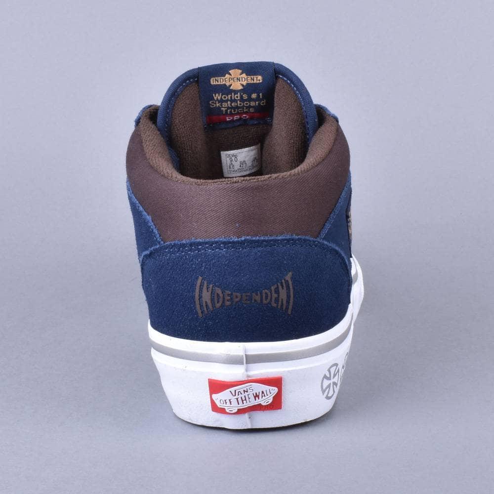 fe4470e43e Vans Half Cab Pro Skate Shoes - (Independent) Dress Blues - SKATE ...