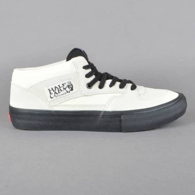 20bcc514cd Vans Half Cab Pro Skate Shoes - White Black - SKATE SHOES from ...