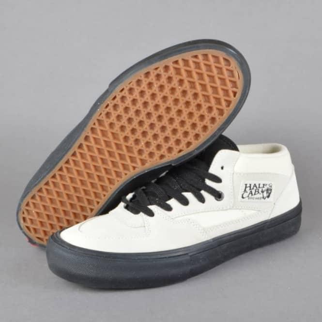 eb99ab4373 Vans Half Cab Pro Skate Shoes - White Black - SKATE SHOES from ...