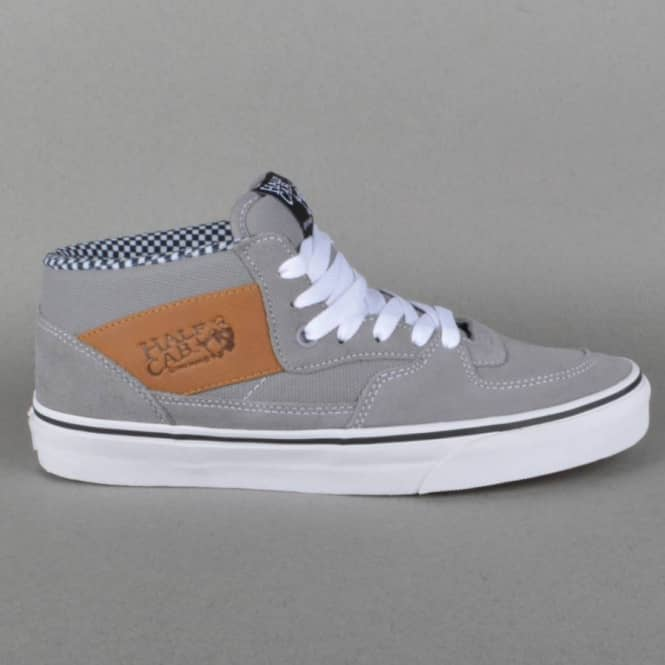 bf738a7a8d Vans Half Cab Skate Shoes - Frost Gray (waxed Canvas) - SKATE SHOES ...