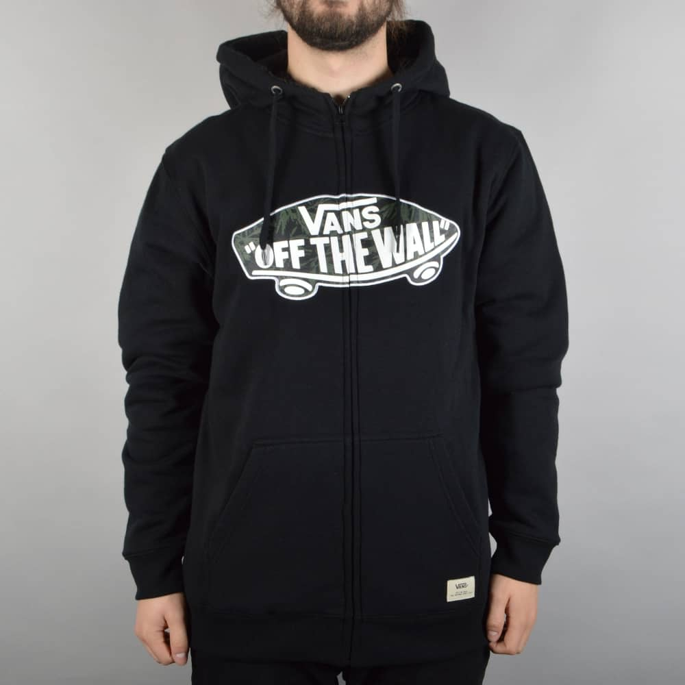 9bfe7a9f39 Vans Hessle Fleece Lined Zip Hoodie - Black Indigo - SKATE CLOTHING ...